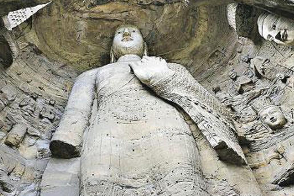 圖為第18窟的原佛像。 明報新聞網