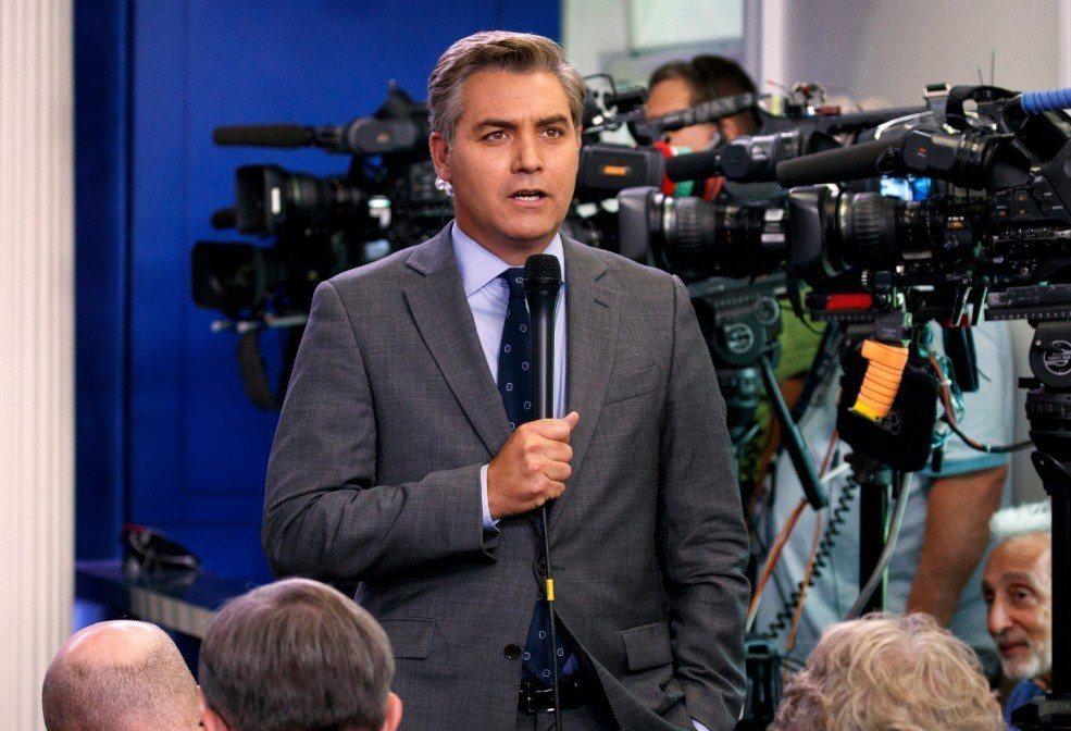 CNN白宮記者阿科斯達(Jim Acosta)。 美聯社