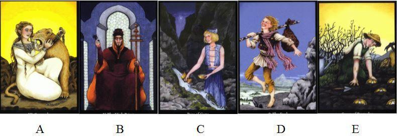 請憑直覺選擇一張牌。 文/小孟提供