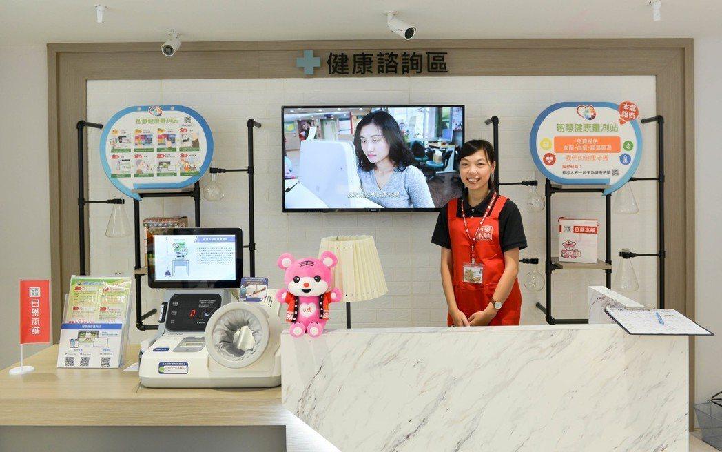 ▲日藥本舖於台茂購物中心設置全台第一間「藥妝X藥智能」概念店。