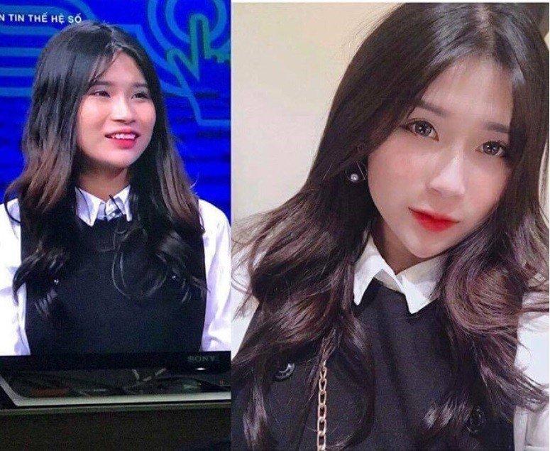 上了越南的電視節目後,因照片與本人差異過大,而遭網友諷稱「虛擬女神」。圖片來源/...