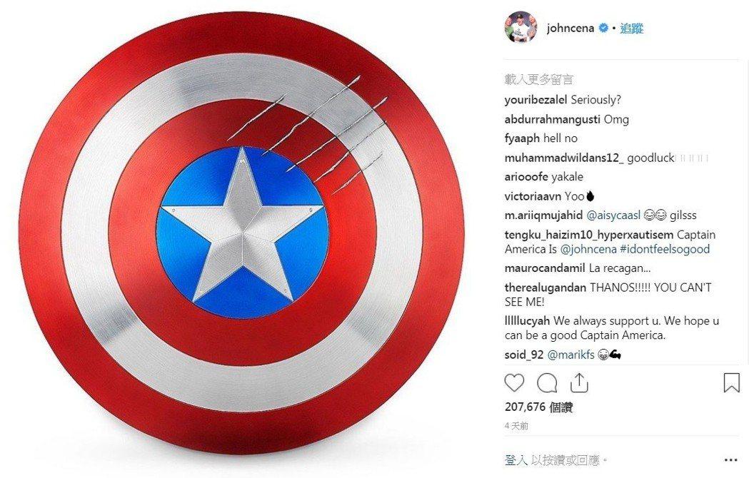 約翰希南的社群網站圖片,引起網友揣測。圖/摘自Instagram
