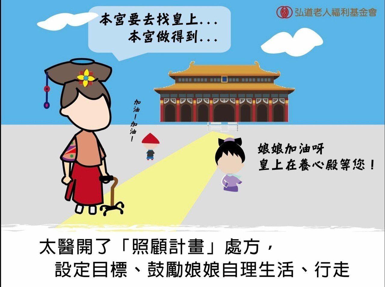 弘道老人福利基金會最近推出一則臉書文宣讓大家直呼小編太有才,小編用漫畫清宮劇,教...