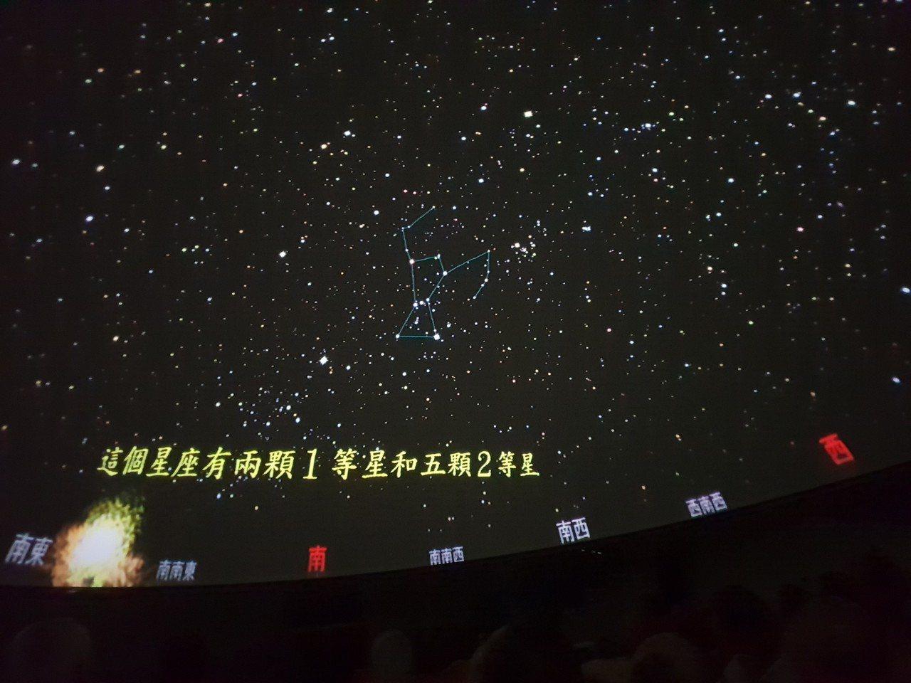 南投縣立旭光高中科學館內數位星象儀,可全天域呈現的自然美景或天文科學知識。記者賴...