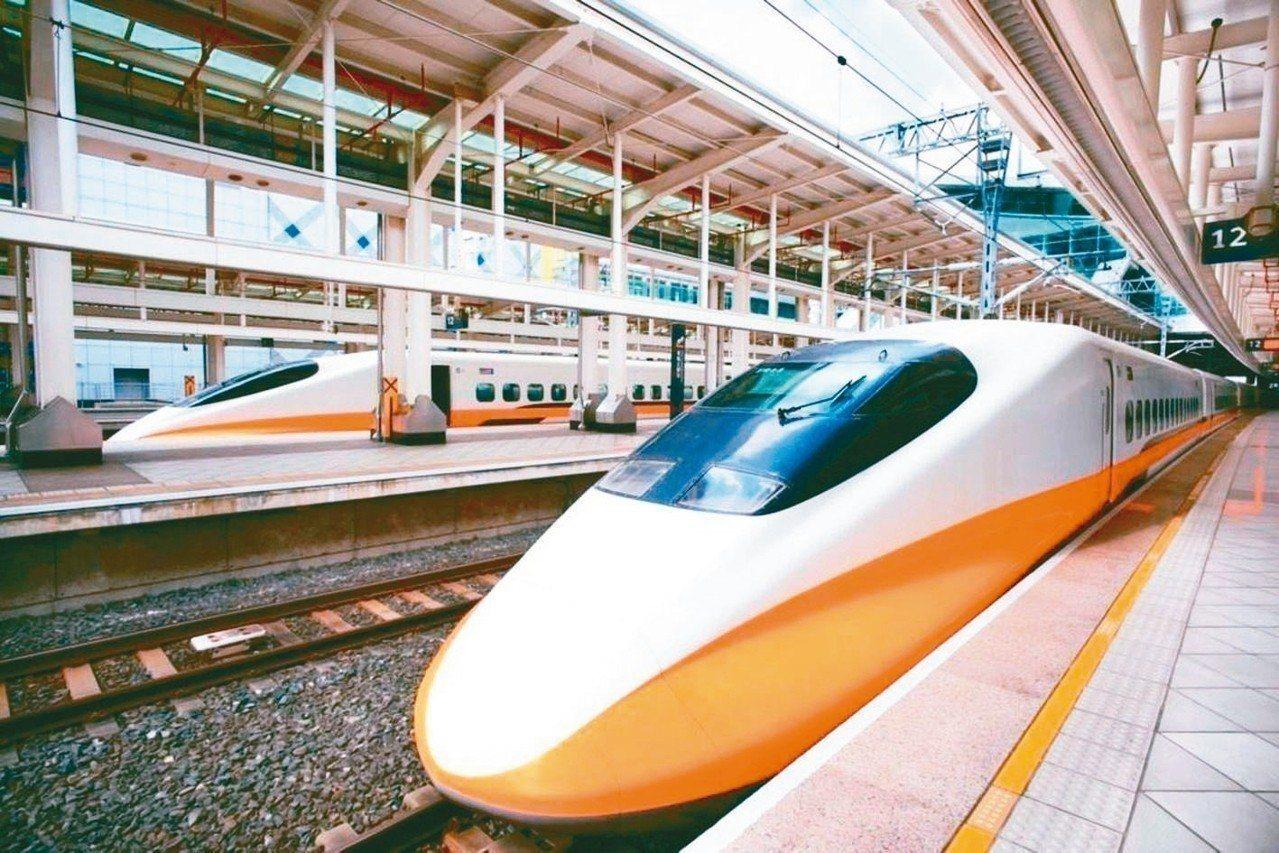 高鐵今晚間將自南港加開一班南下全車自由座列車。聯合報系資料照