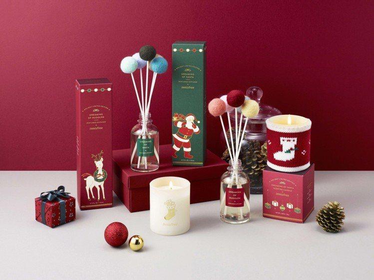 2018 innisfree耶誕老人香氛蠟燭,售價750元;耶誕老人、耶誕馴鹿居...