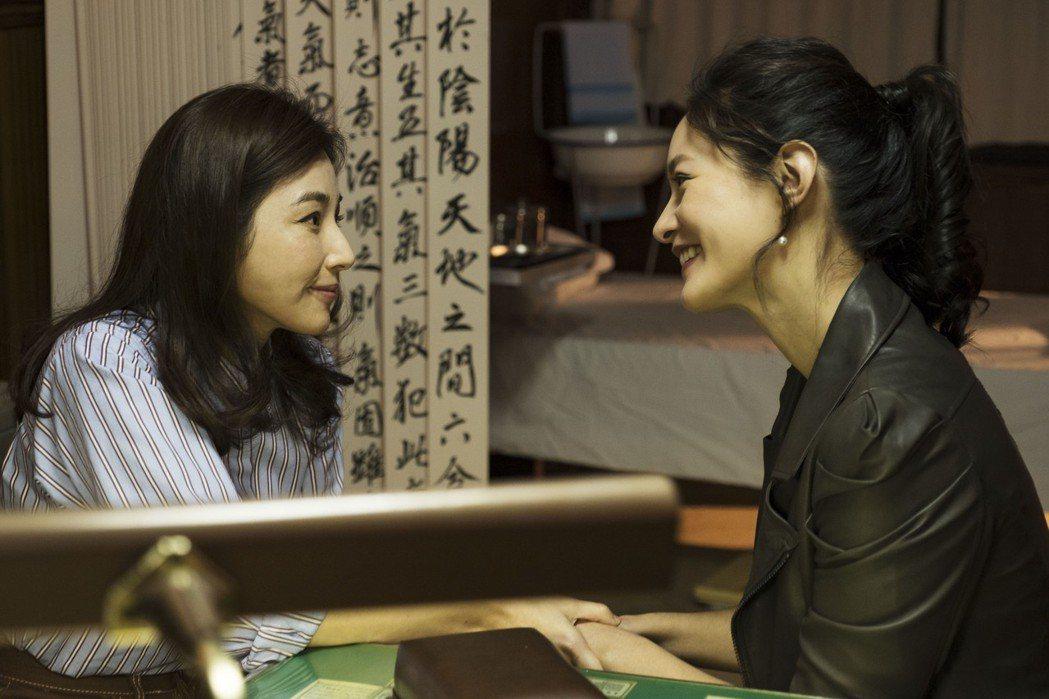 陳怡蓉(左)在戲裡遇男友舊愛Janet。圖/青睞影視提供