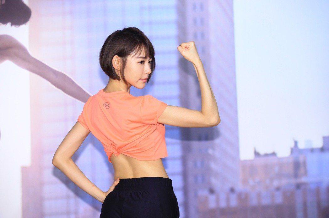 林明禎表示健身時,會有「我是全場最性感」的感受。記者林伯東/攝影