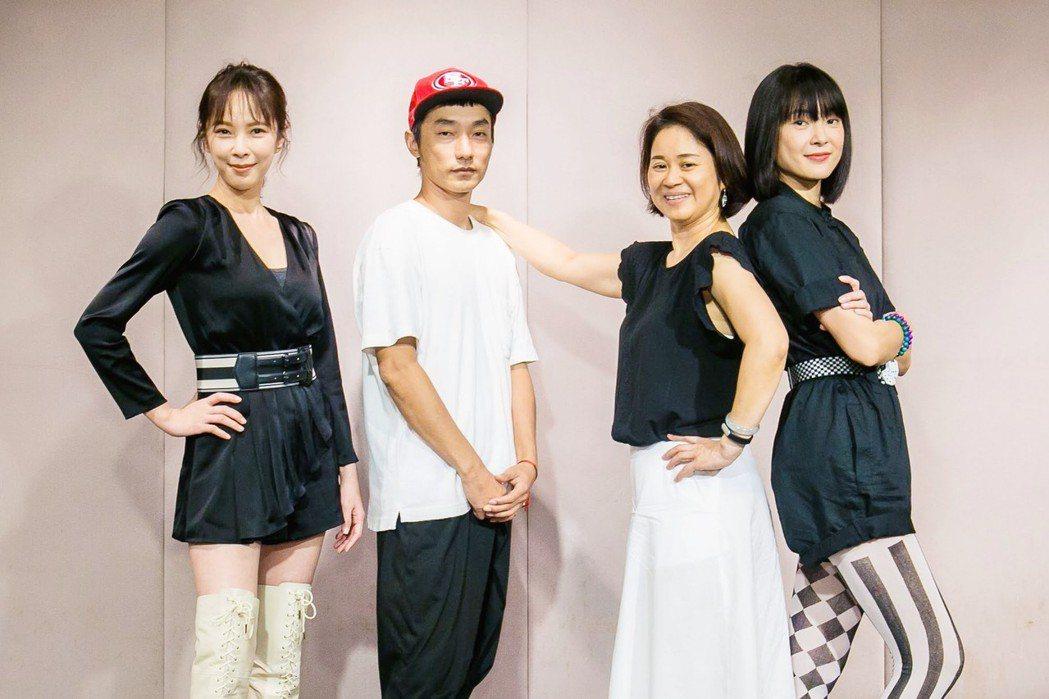 天心(左起)、導演林立書、製作人陳慧玲、曾珮瑜打造「最佳利益」。圖/群之噰、有意...