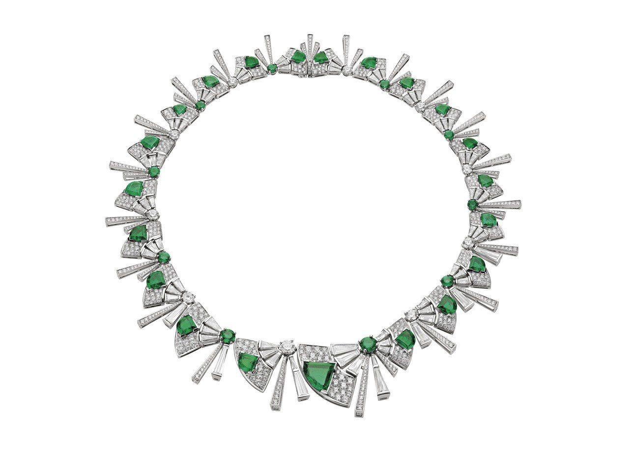 舒淇配戴的BVLGARI FESTA公主慶典系列頂級祖母綠與鑽石項鍊,3,400...