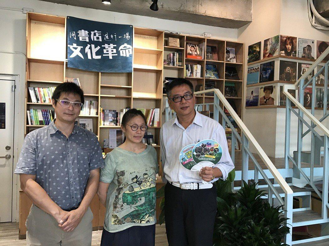 大日開發有限公司總經理蘇幸福(右),被陳顥樺夫婦想開書店的初衷感動,他給了三年免...