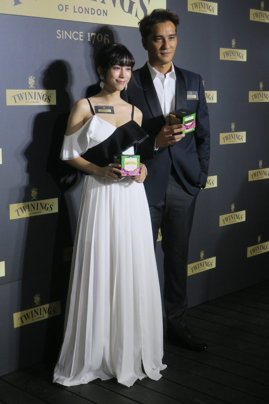 馬志翔與溫貞菱都常在家中飲用唐寧茶。記者蘇詠智/攝影