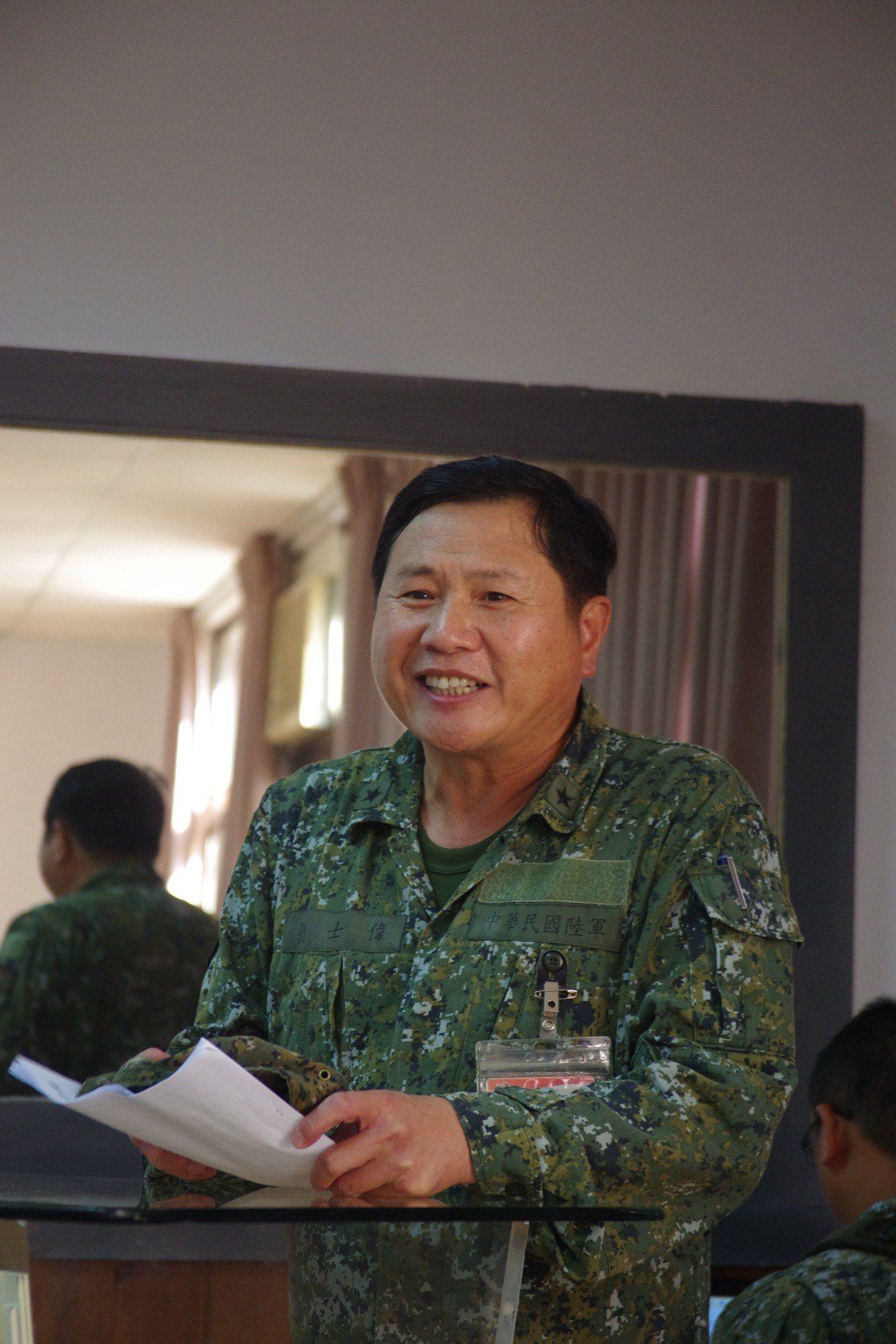 新任陸軍政戰主任簡士偉少將,明年元旦將升中將。資料照,記者程嘉文/攝影