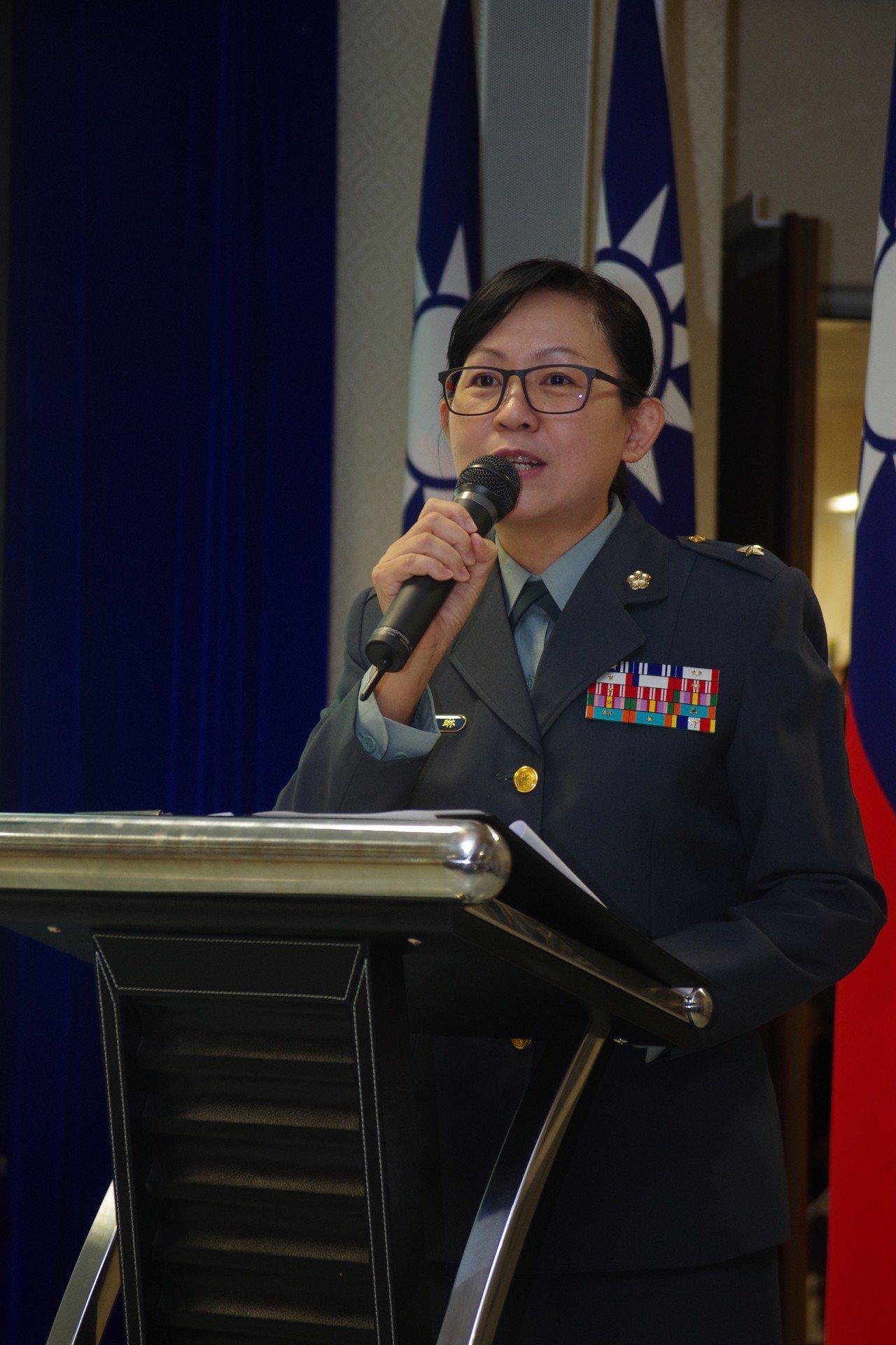 文宣心戰處長陳育琳少將,是目前政戰體系唯一女性將官。資料照,記者程嘉文/攝影