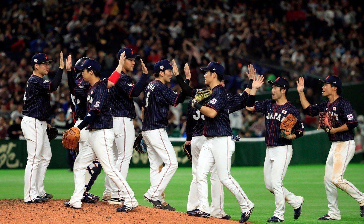美日棒球對抗賽第2戰,日本隊以12:6收進2連勝。 歐新社