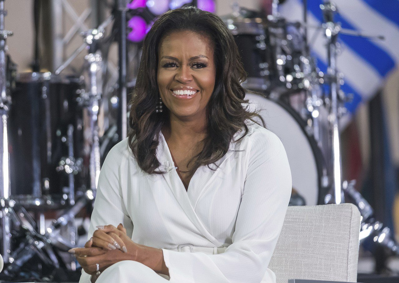 美國前總統夫人蜜雪兒.歐巴馬自爆兩個女兒都是試管嬰兒。美聯社