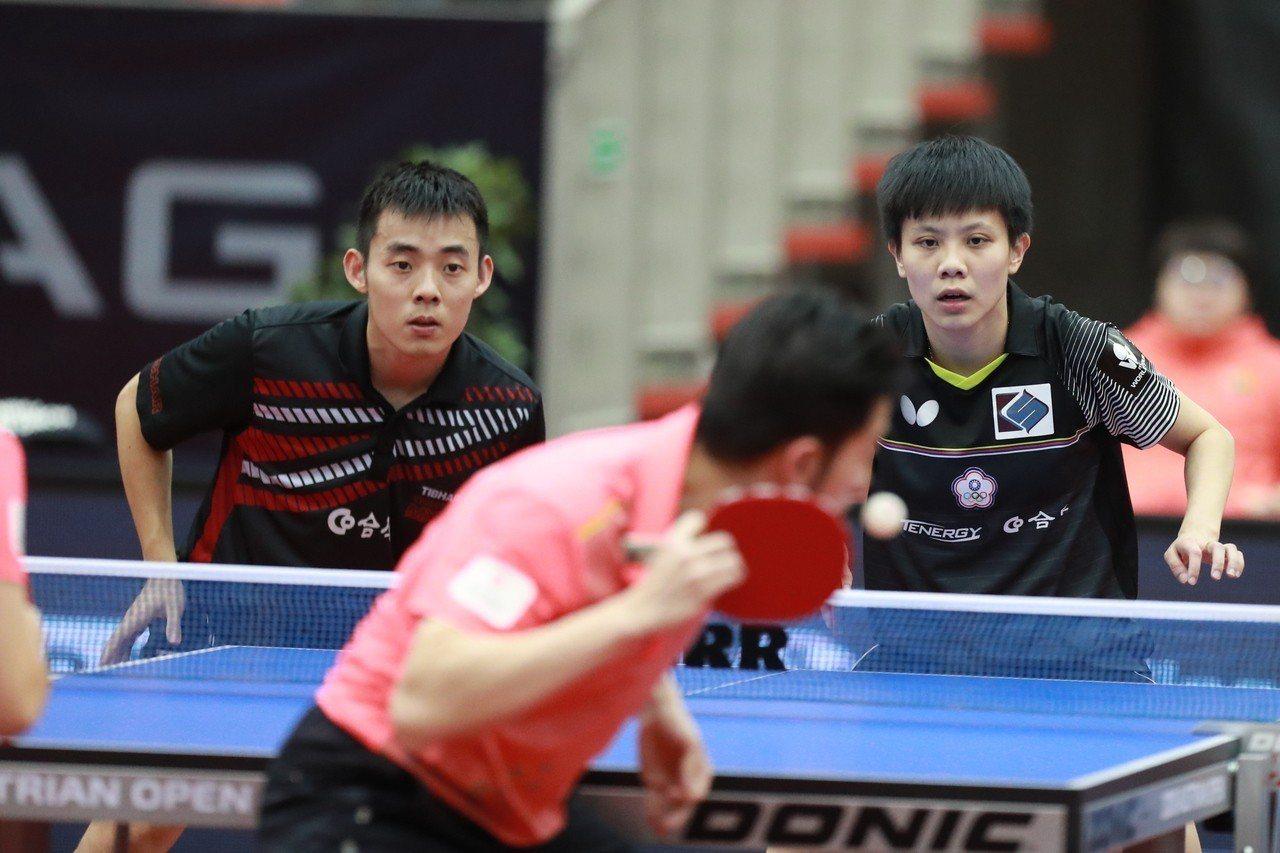 陳建安(左)與鄭怡靜在奧地利桌球公開賽混雙闖進決賽。圖/擷取自ITTF官網