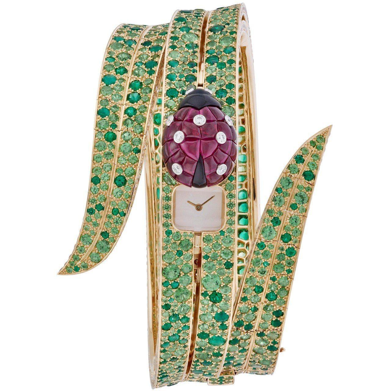 最佳珠寶表獎頒給梵克雅寶的瓢蟲神秘表,價格店洽。圖/GPHG提供
