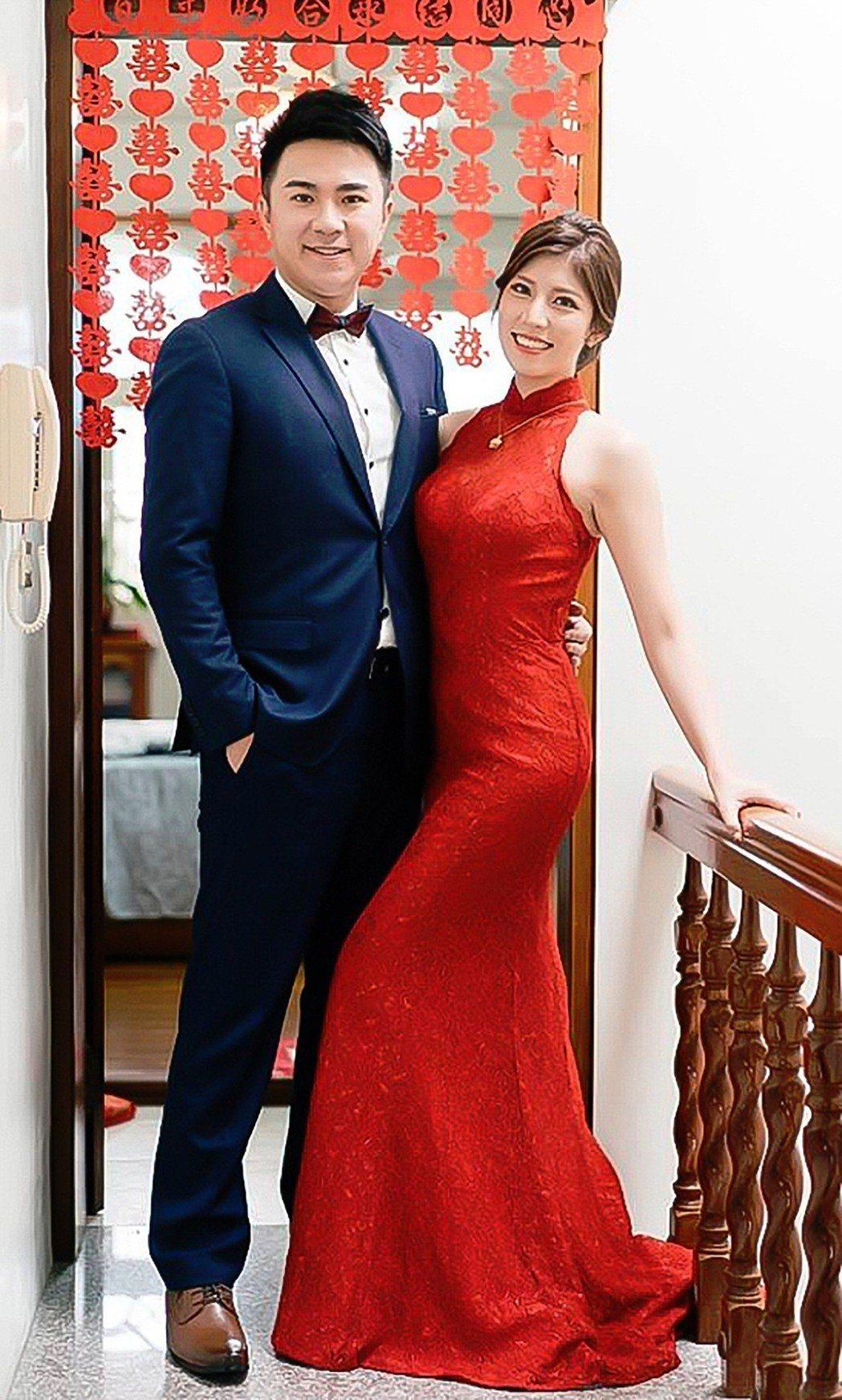 藍于洺唯美婚紗照曝光。圖/TVBS提供