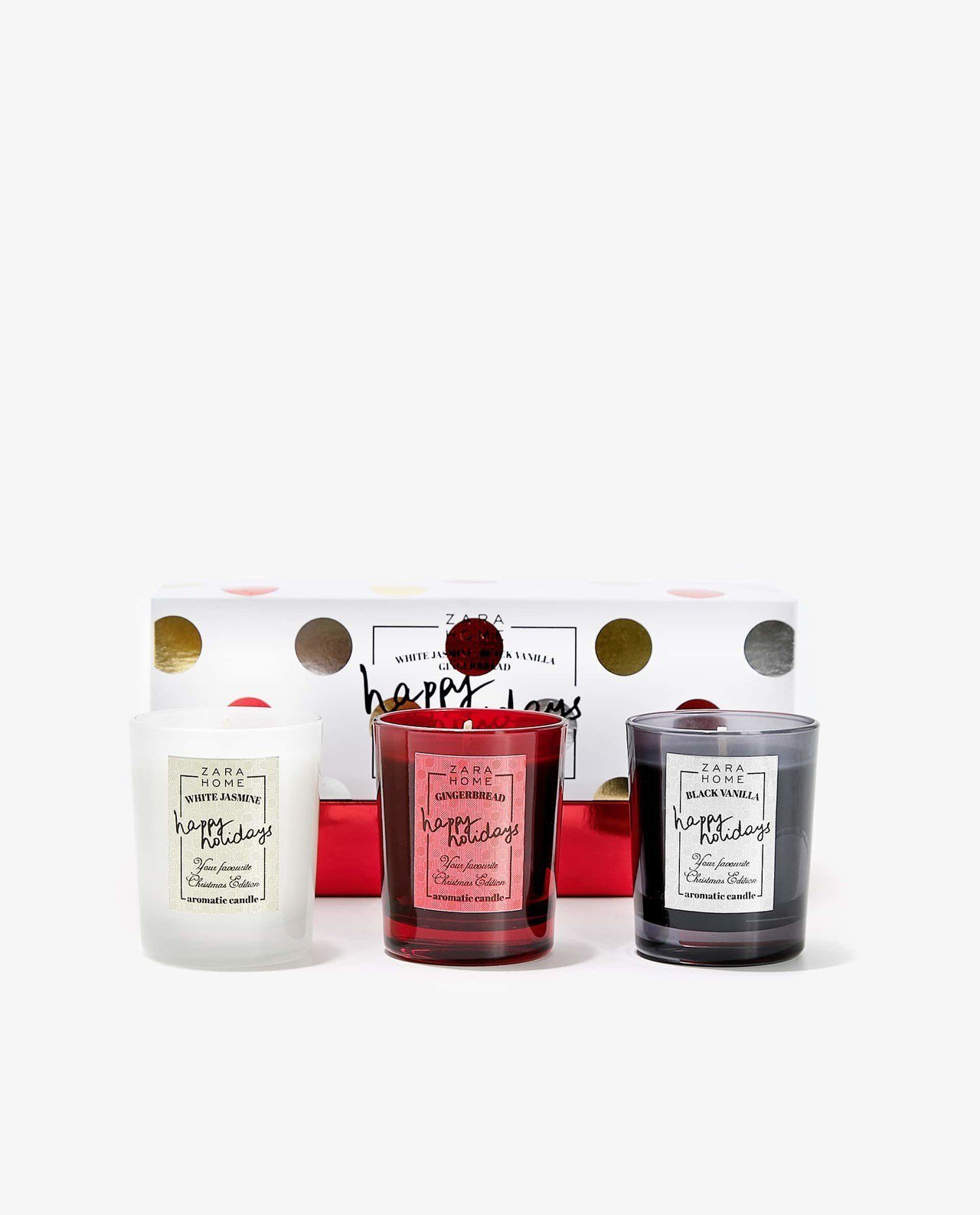 ZARA HOME今年首度推出內含3個迷你香氛蠟燭組,售價990元。圖/ZARA...