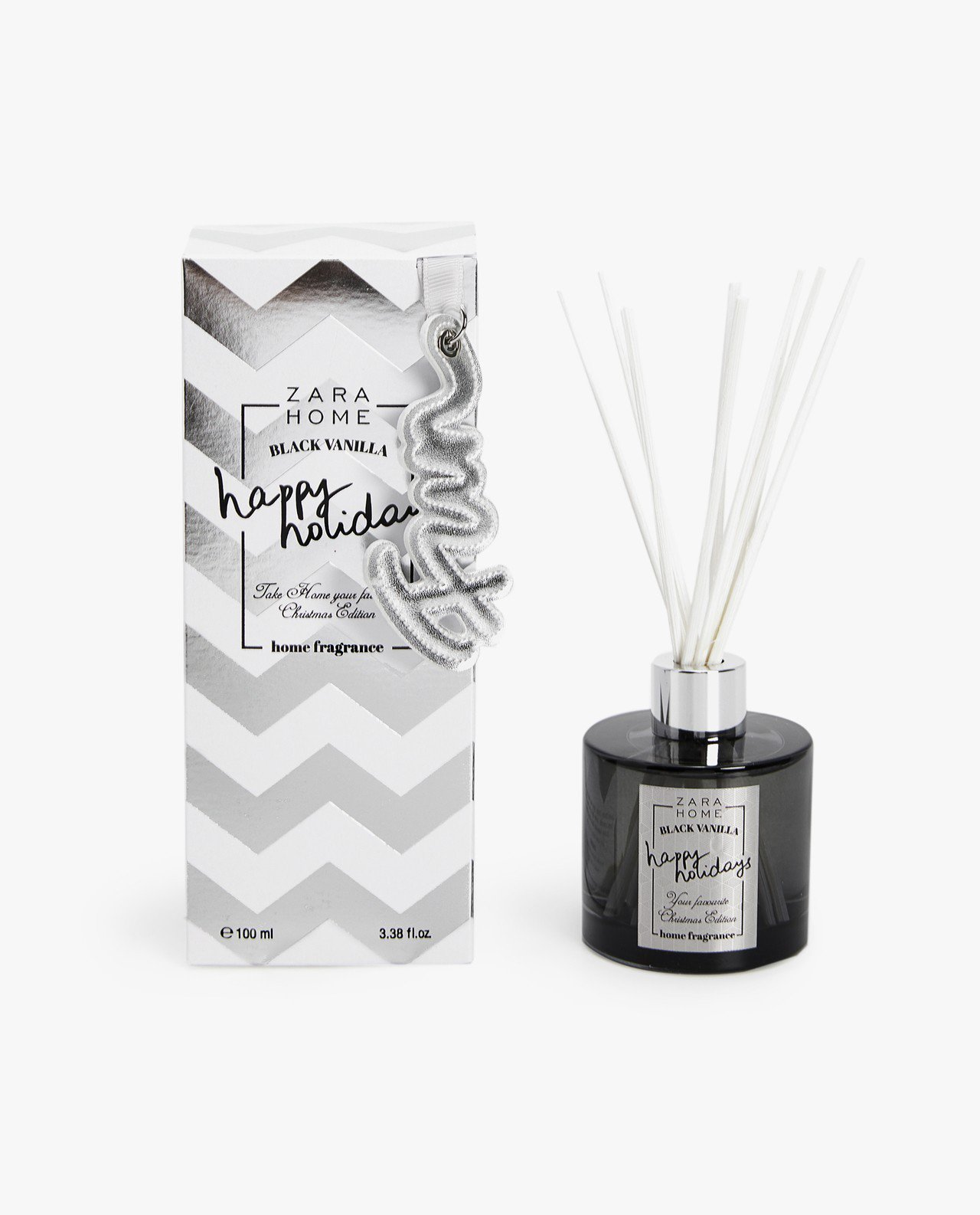 ZARA HOME耶誕香氣的銀灰款是冬季熱銷香氣Black Vanilla黑香草...