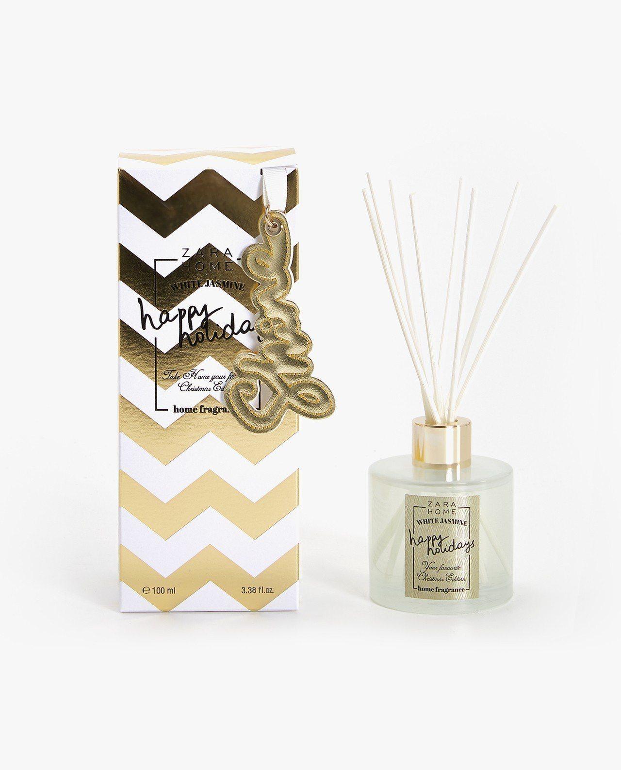 ZARA HOME耶誕香氣的金+雪白款是暢銷香氣White Jasmine白色茉...