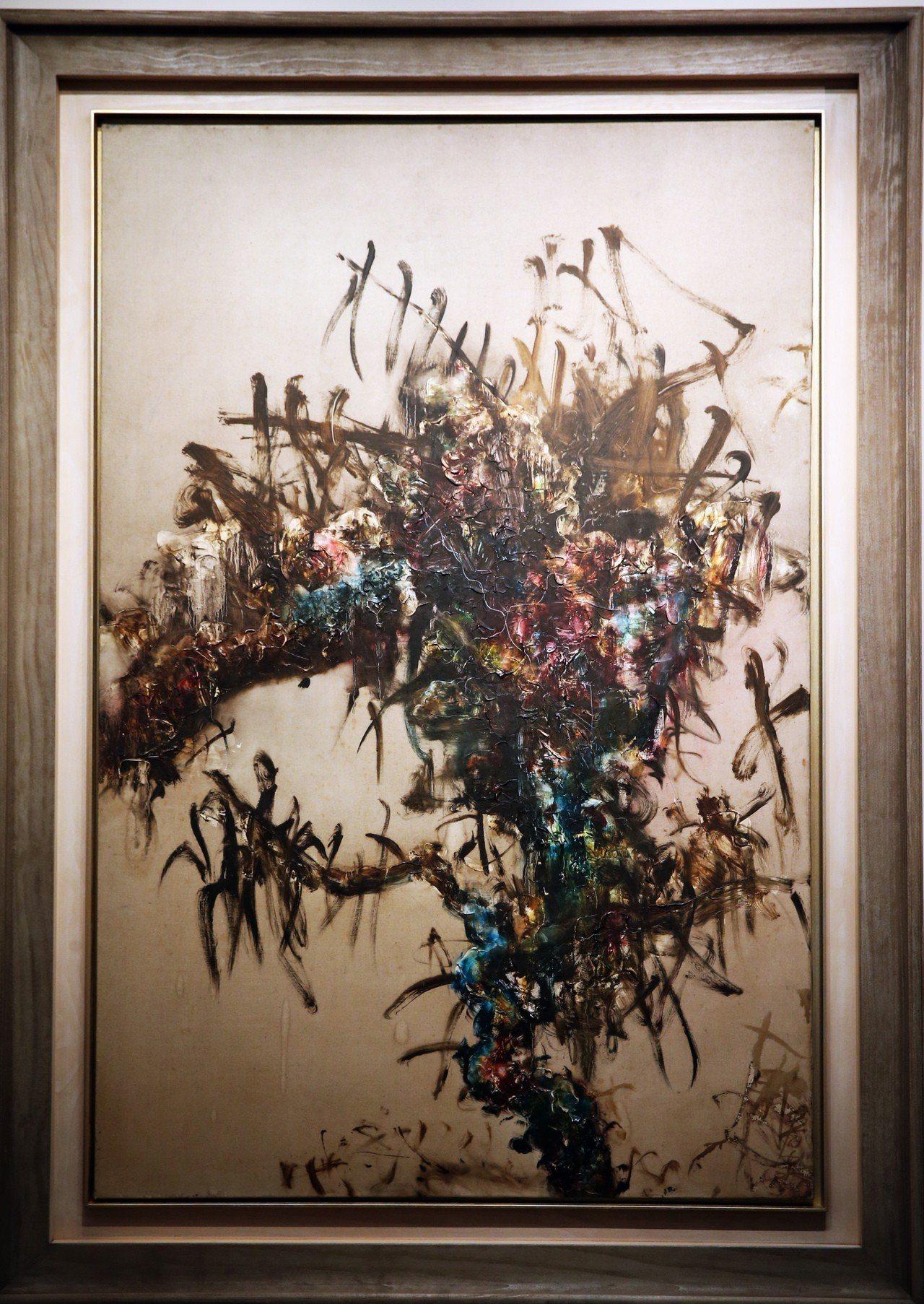 2018佳士得台北秋拍預展,周春芽1993年油畫《樹的系列》,估價約9,779萬...