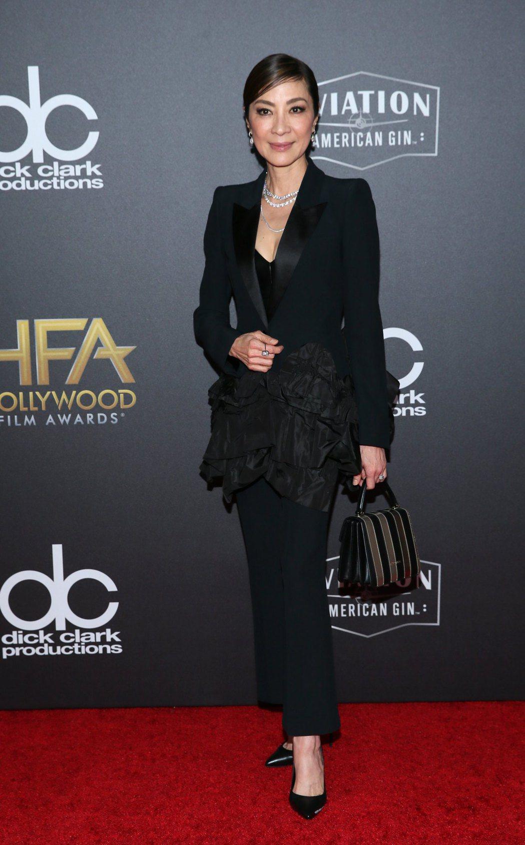 楊紫瓊在好萊塢聲勢水漲船高,被視為入圍奧斯卡女配角熱門人選。圖/歐新社資料照片