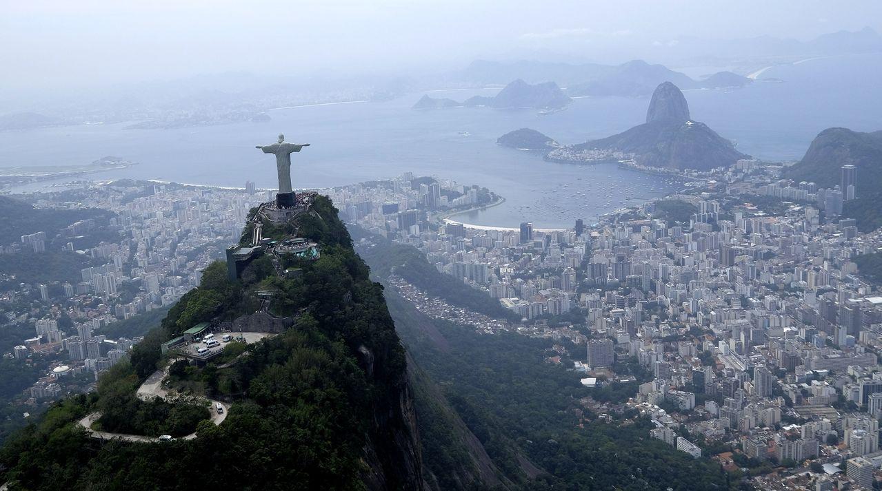 巴西里約熱內盧地標耶穌基督雕像。美聯社
