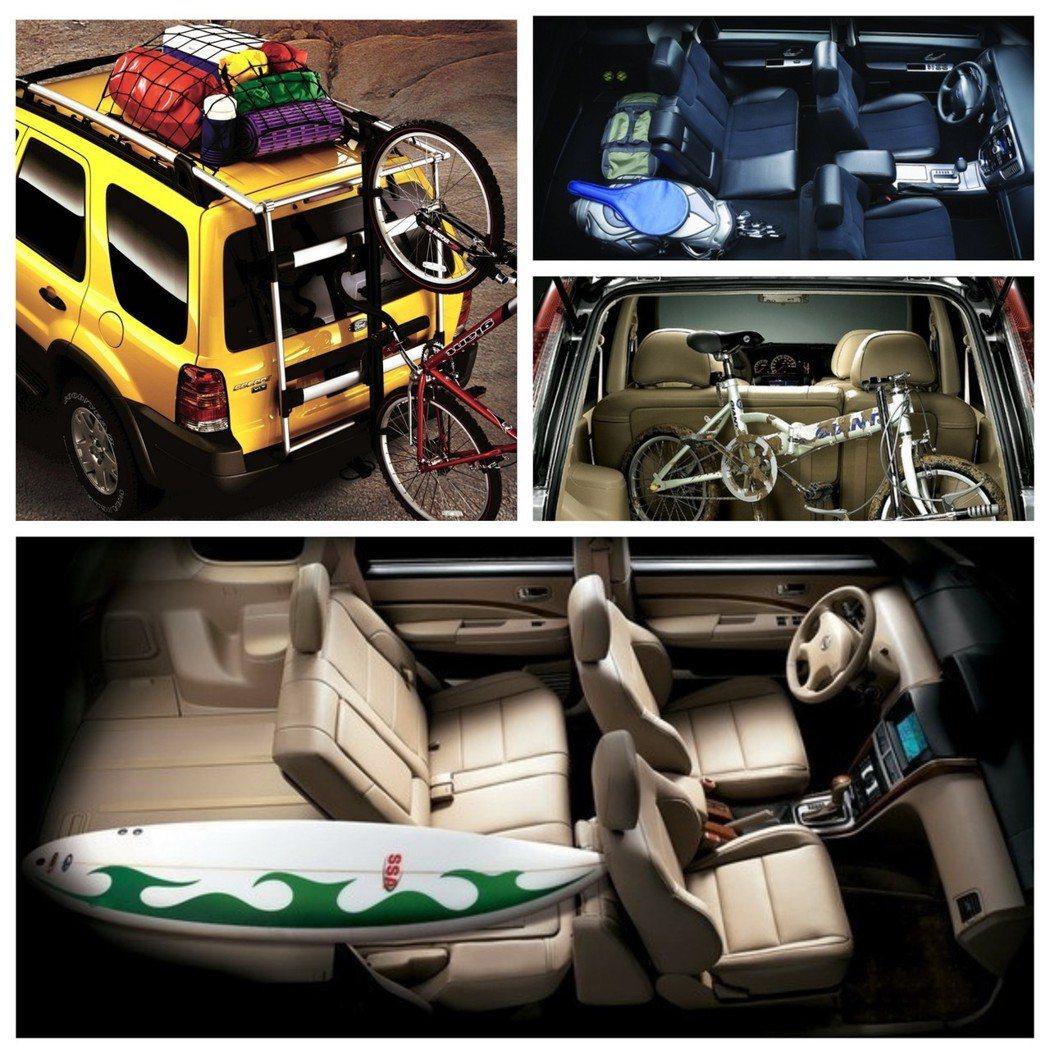 休旅車的空間變化大,載人載物都好用。 摘自Nissan、Ford