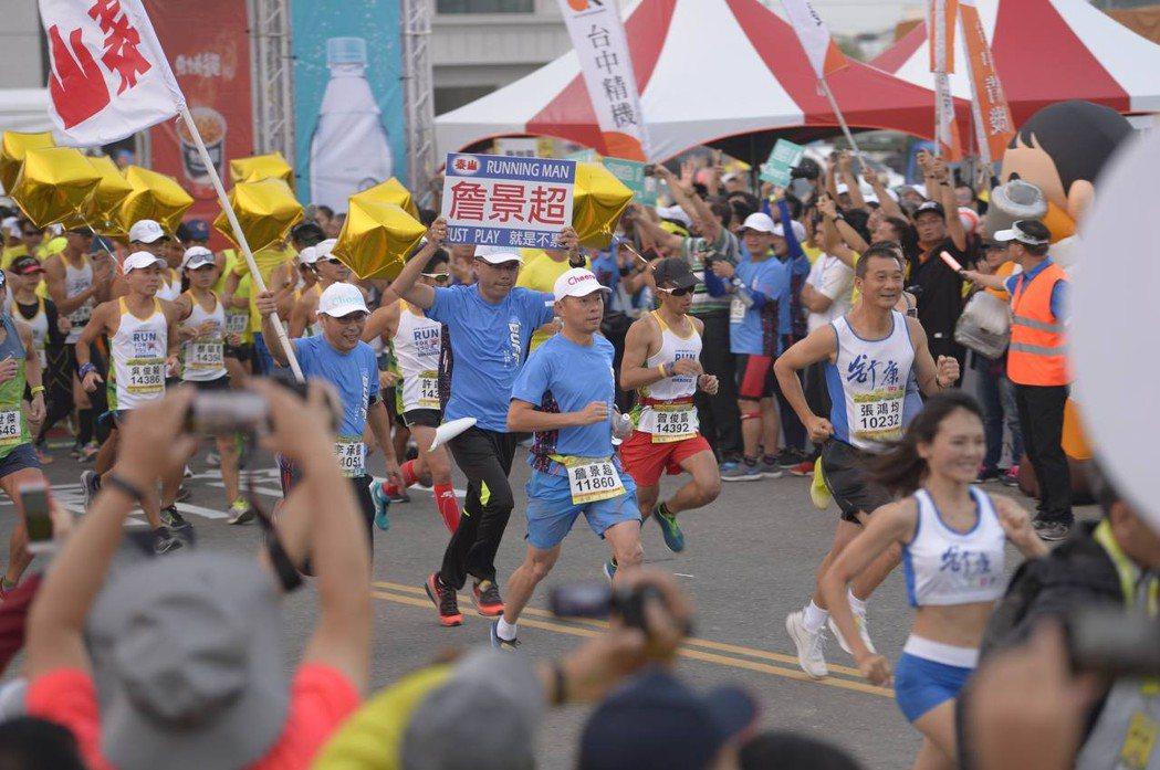 泰山企業總經理詹景超原本就是鐵人,再度獻身全馬領跑的行列。泰山企業/提供