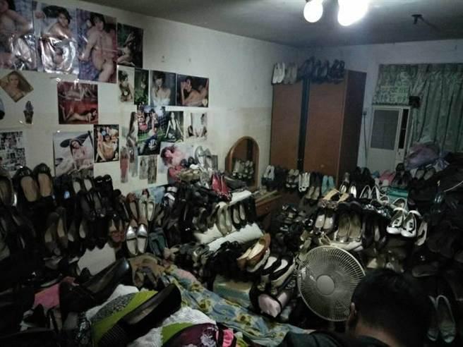基隆市陳姓男子5年內陸續搜刮了社區鄰居鞋櫃內868雙女鞋,基隆地方法院依竊盜罪,...