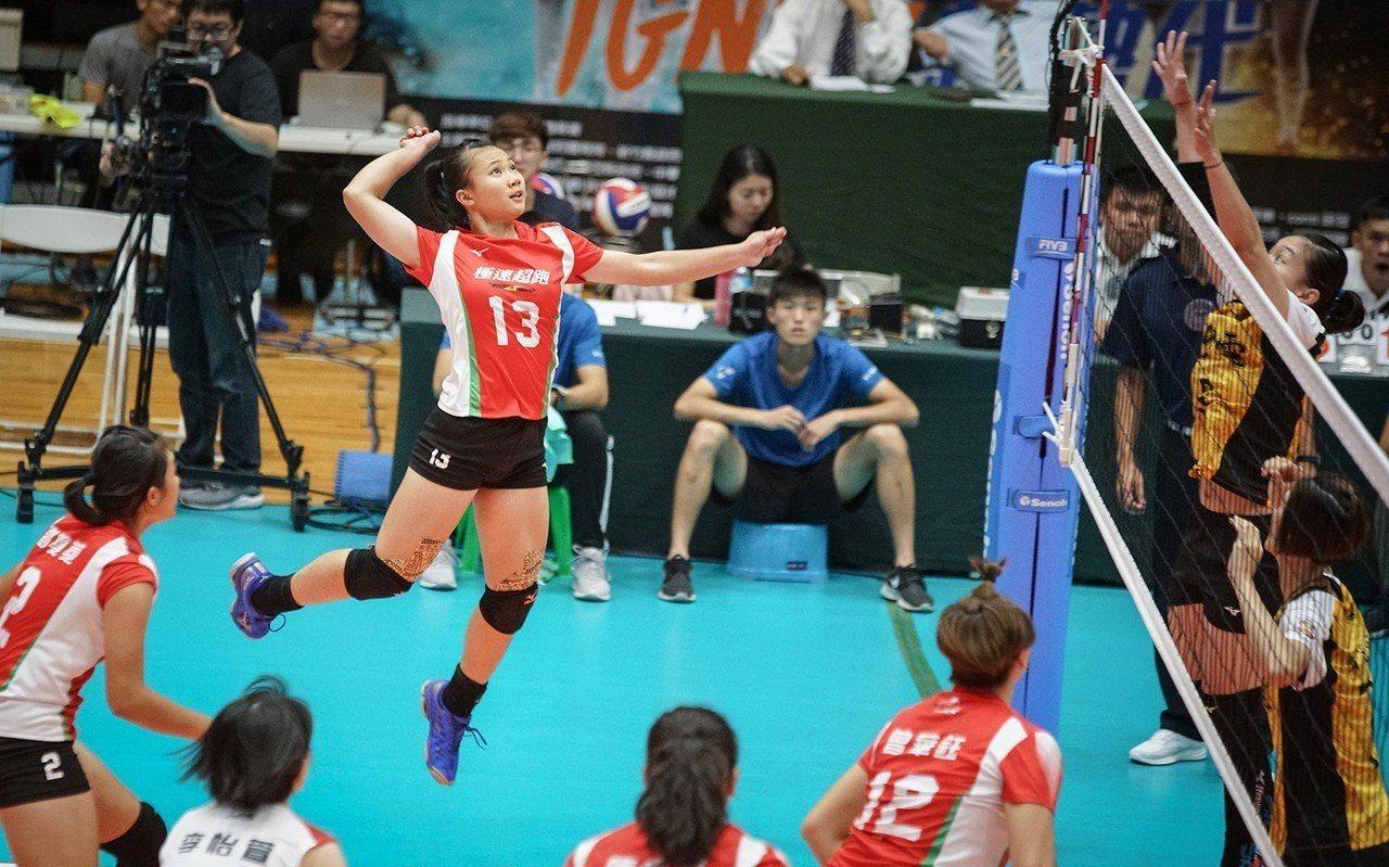 極速超跑許菀芸攻擊。圖/中華排球協會提供