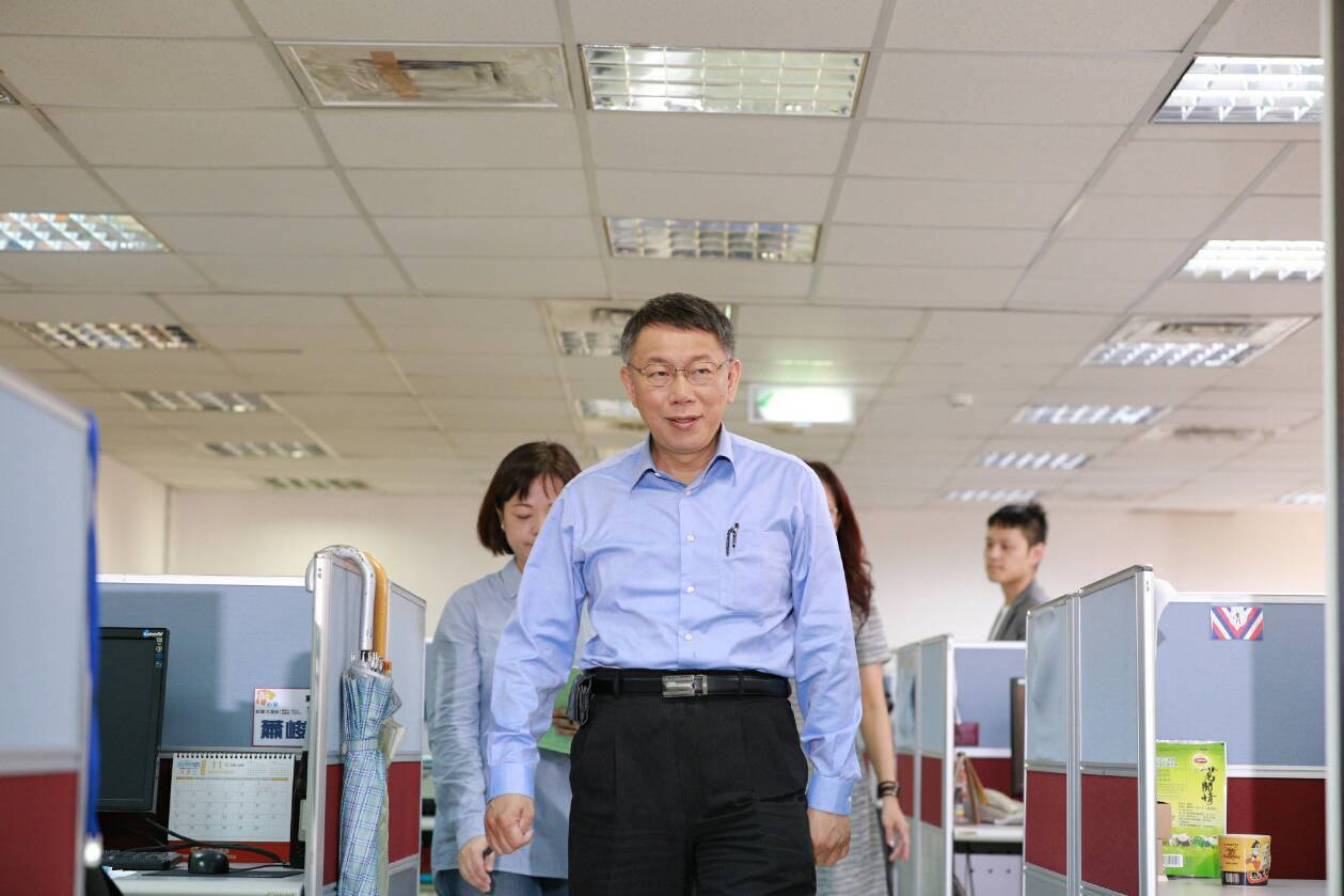 今為首場台北市長公辦政見發表會,台北市長柯文哲今出席談到兩岸關係。圖/柯文哲競選...