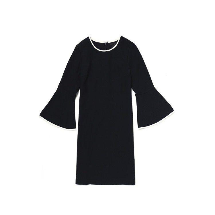 荷葉寬袖短洋裝,9,900元。圖/Club Monaco提供