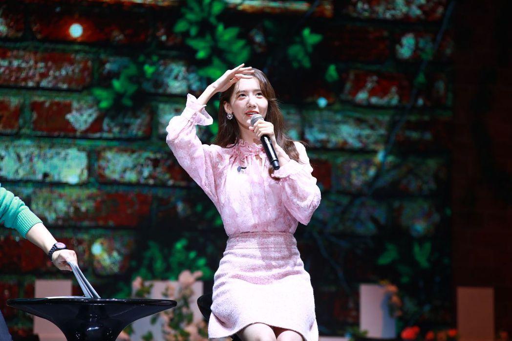 潤娥在台灣見面會上中文力全開。記者李姿瑩/攝影