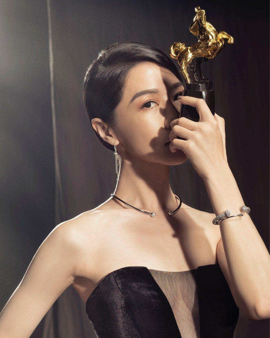 以「誰先愛上他的」入圍本屆金馬女主角的謝盈萱。圖/金馬執委會提供