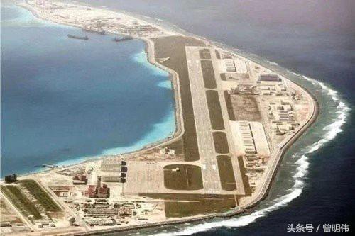 美濟島的機場,可起降大型飛機。 圖/擷自今日頭條