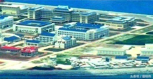 渚碧島上的建築已陸續完成。 圖/擷自今日頭條
