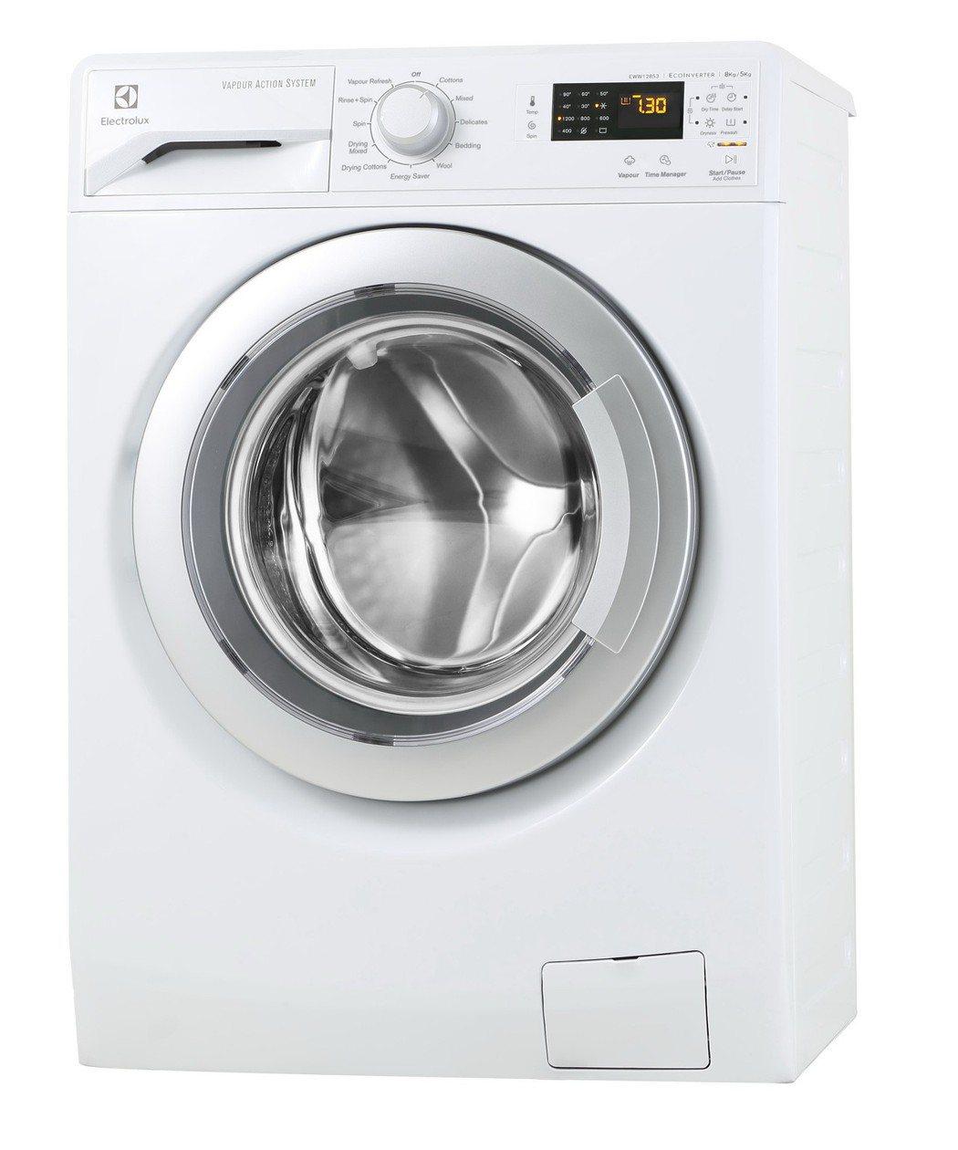 伊萊克斯「洗脫烘衣機」。 台灣櫻花/提供