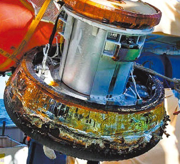 成功打造「終極魔法瓶」,日首度回收太空艙。 記者易起民/翻攝