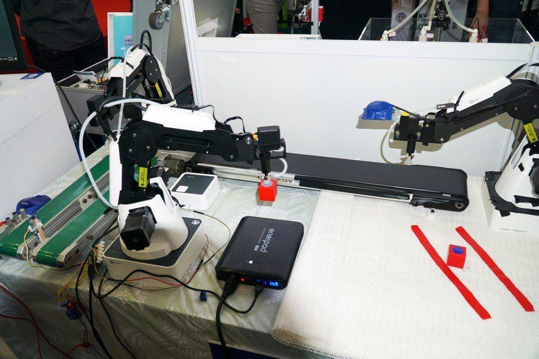 大葉大學工學院研發「結合視覺之自動化系統模擬與實務」示範平台 大葉大學/提供。