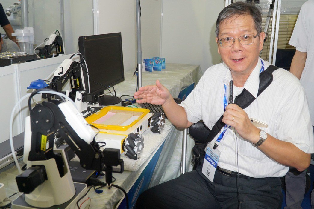 大葉大學機械系主任紀華偉介紹研發成果 大葉大學/提供。