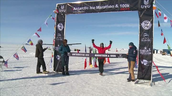 第十屆南極馬拉松。圖/udn tv提供