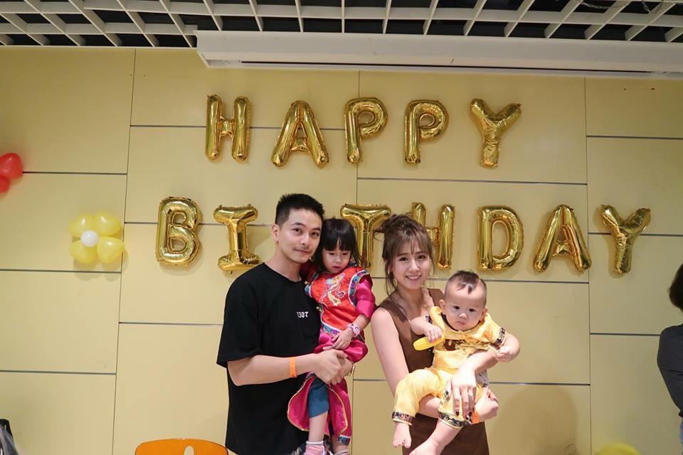 方志友與楊銘威幫兒子Sunny慶祝周歲生日。圖/摘自臉書