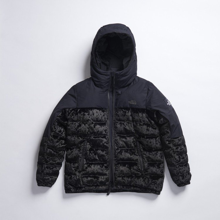 The North Face Urban Exploration絲絨系列黑色連帽...