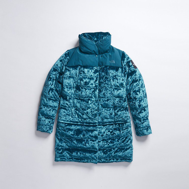 The North Face Urban Exploration絲絨系列湖水綠羽...