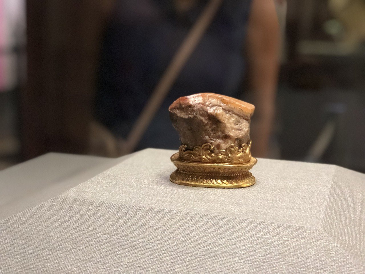 故宮人氣國寶肉形石。記者何定照/攝影