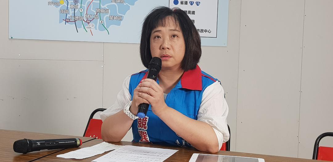 台南市長候選人高思博的太太周韻采 記者修瑞瑩/攝影