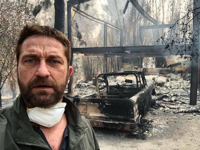 加州野火將傑哈德巴特勒的豪宅燃燒殆盡。圖/摘自IG